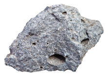 Pierre poreuse rugueuse de basalte d'isolement photos stock
