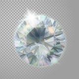 Pierre précieuse de diamant de bijoux brillants en cristal de gemme Illustration détaillée réaliste du vecteur 3d sur transparent Image stock