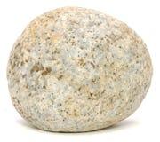 Pierre repérée ronde blanche de granit Photo libre de droits