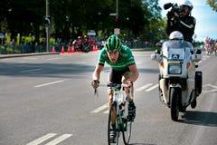 Pierre Rolland de l'équipe d'Europcar Photo libre de droits
