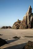 Pierre sur la plage Photo libre de droits