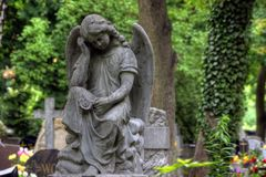 Pierre tombale dans le vieux cimetière Photos stock