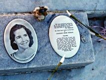 Pierre tombale de Charlene Richard, Lil Cajun Saint Photo stock