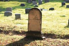 Pierre tombale de cimetière Image libre de droits