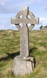 Pierre tombale de croix celtique Image libre de droits