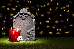 Pierre tombale de Halloween Photographie stock