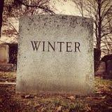 Pierre tombale de l'hiver image libre de droits