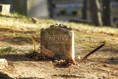 Pierre tombale de tombe d'auteurs Photo libre de droits