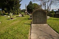 Pierre tombale du cimetière britannique à Katmandou, Népal Photographie stock libre de droits