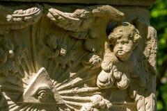 Pierre tombale historique Photo libre de droits