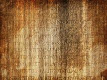 Pierre tombale implorée antique Image libre de droits