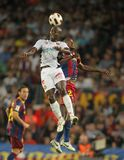Pierre Webo of Mallorca. In action during spanish league match between FC Barcelona and RCD Mallorca at Nou Camp Stadium in Barcelona, Spain. October 3, 2010 Stock Photography