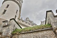 Pierrefonds城堡  库存图片