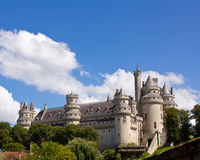 Pierrefonds Castle. A splendid Middle Age Chateau, in France, nearby Paris. It is very well preserved and it's perfect for shooting movies with the action in the Stock Photo