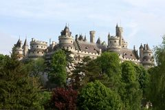 The Pierrefonds Castle Royalty Free Stock Image