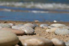 Pierres à la plage Photo stock