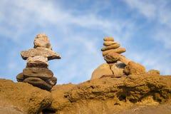 Pierres équilibrées de zen Image libre de droits