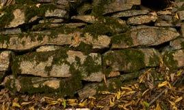 Pierres antiques couvertes de la mousse Image stock