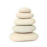 Pierres blanches d'équilibre Image libre de droits