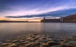 Pierres, château, coucher du soleil Image stock