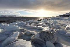Pierres congelées Photographie stock libre de droits