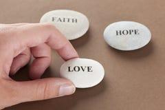 Pierres d'amour, de foi et d'espoir Images libres de droits