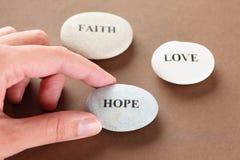 Pierres d'espoir, de foi et d'amour Image libre de droits