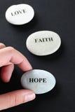 Pierres d'espoir, de foi et d'amour Images libres de droits