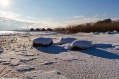 Pierres d'hiver Images stock