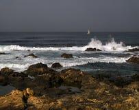 Pierres dans l'océan madeira photos libres de droits