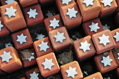 102 000 pierres dans le camp de transit de Westerbork Images libres de droits