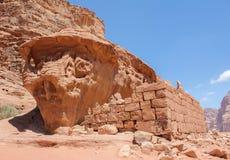 Pierres dans le d?sert Wadi Rum photos libres de droits