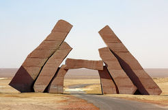 Pierres dans le désert Images libres de droits
