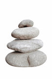 Pierres de équilibrage d'isolement sur le fond blanc Photo stock