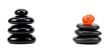 Pierres de basalte de zen photos stock