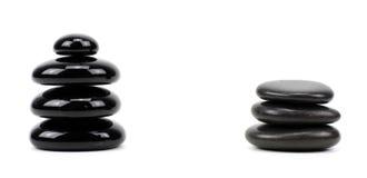 Pierres de basalte de zen photo stock