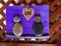 Pierres de chats d'amour Images libres de droits