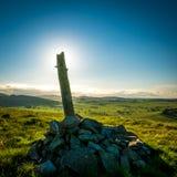 Pierres de dessus de colline de l'Ecosse images libres de droits