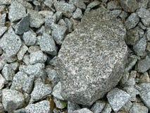 Pierres de granit pour la conception de jardin Photographie stock libre de droits