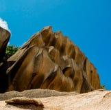 Pierres de La Digue Seychelles Photo stock