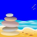 Pierres de plage Images libres de droits