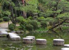 Pierres de progression à Kyoto Image libre de droits