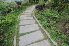Pierres de progression dans un pré vert dans un jardin Photos libres de droits