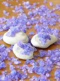 Pierres de zen et sel de fines herbes photographie stock