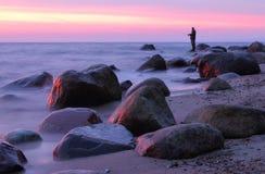 Pierres en mer baltique, Gdynia Orlowo Photographie stock libre de droits