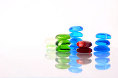 pierres en verre de couleur Photographie stock libre de droits