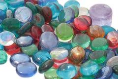 Pierres en verre de couleur. photographie stock libre de droits
