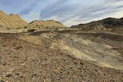 Pierres et arêtes érodées, badland, parc national de Death Valley photo libre de droits