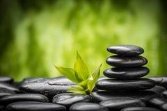Pierres et bambou de zen Image libre de droits