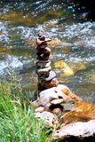 Pierres et bambou de zen Images stock